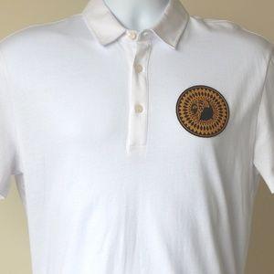 9646311e Versace Collection Shirts - VERSACE COLLECTION MEDUSA HEAD LOGO POLO SHIRT  WHT